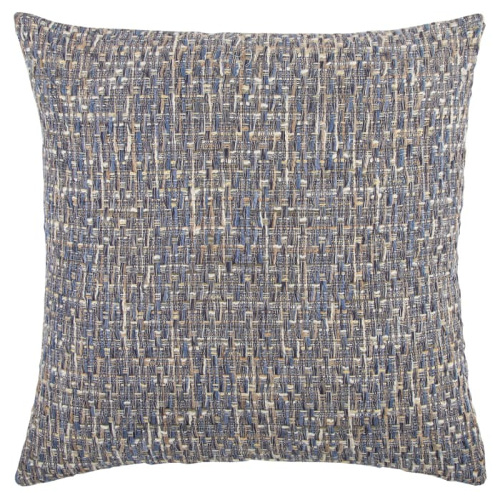 Heathered Woven Navy Filled Pillow