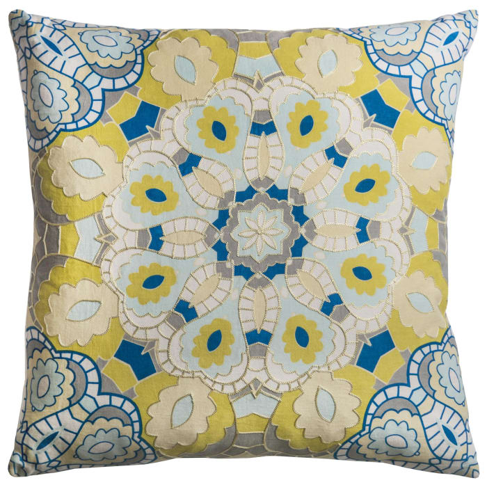 Medallion Yellow Pillow Cover