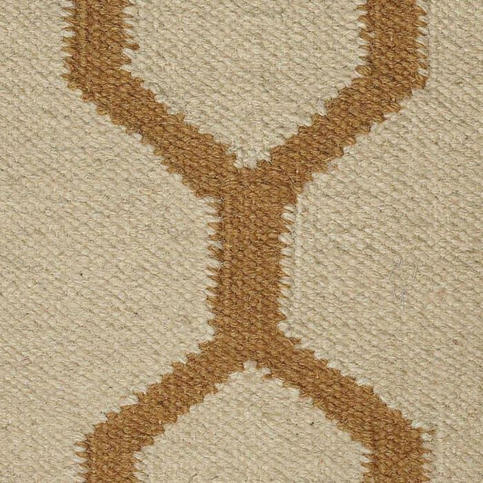Moroccan Tile Motif Beige Filled Pillow
