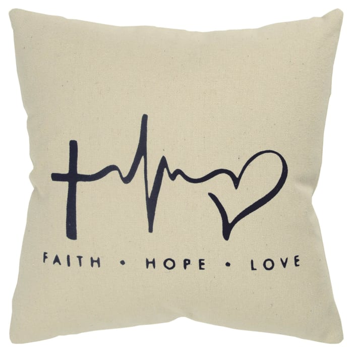 Senti-Inked Canvas Black Poly Filled Pillow