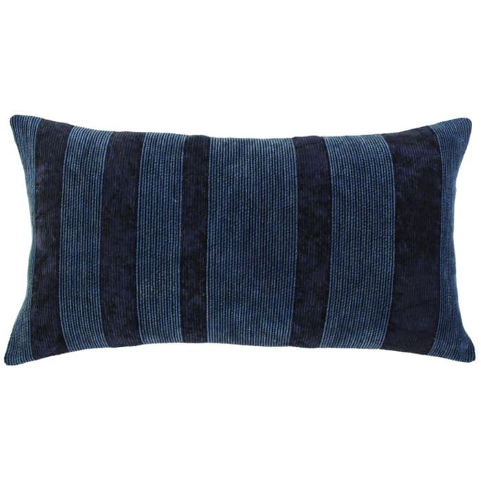 Solid Viscose Velvet Navy Pillow Cover