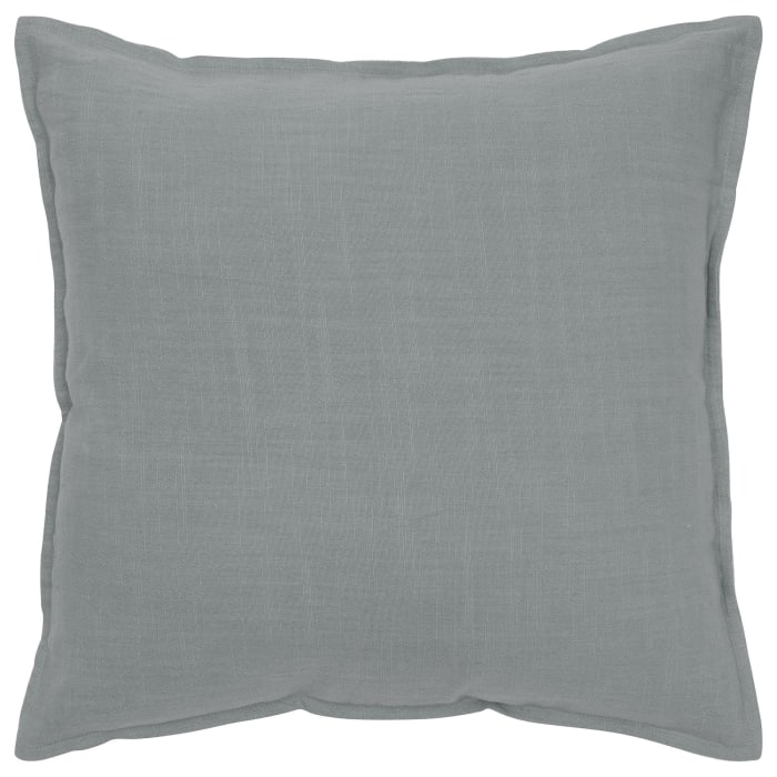 Solid Cotton Gray Poly Filled Pillow