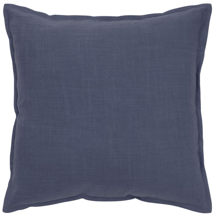 Solid Cotton Navy Pillow Cover