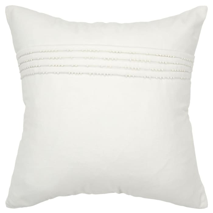 Solid Cotton White Pillow Cover
