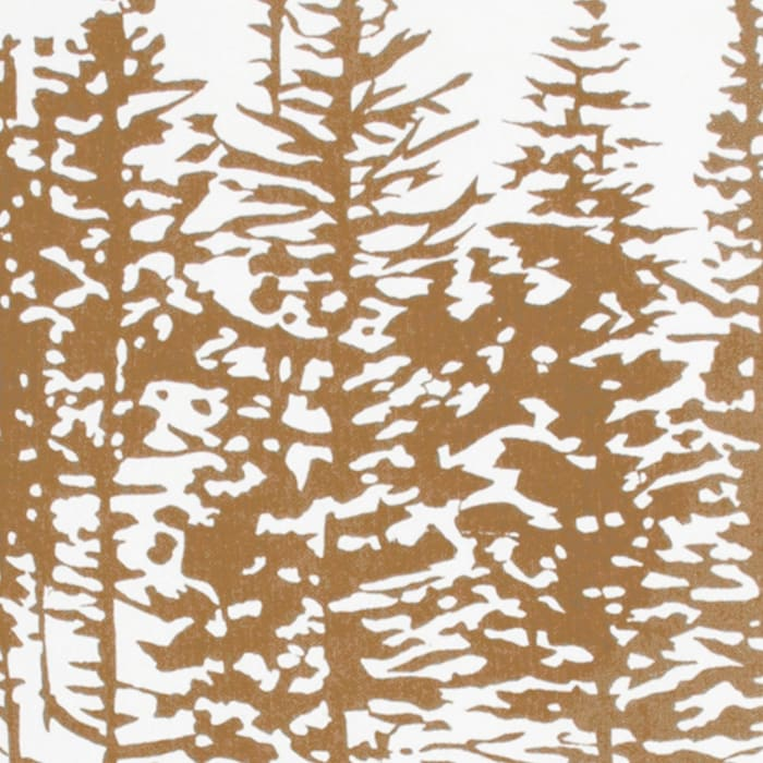 Tree In A Line Brown/White Pillow Cover