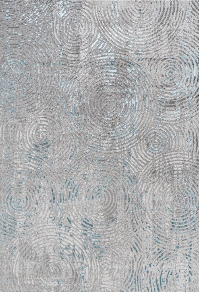 Timeworn Modern Abstract Gray/Turquoise 8' x 10' Area Rug