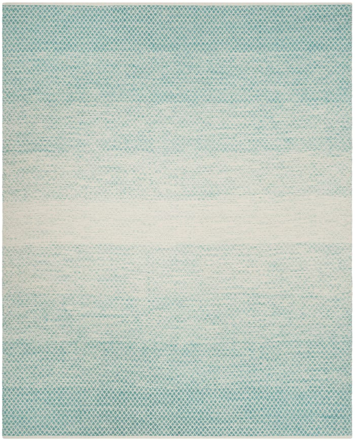 Turquoise Cotton 9' x 12' Rug