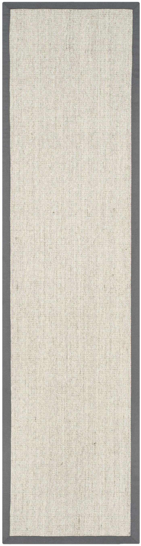 Gray Jute Rug 2.5' x 12'