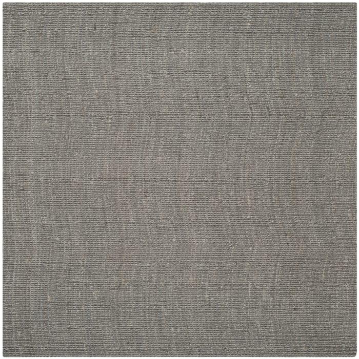 Square Gray Jute Rug 8' x 8'