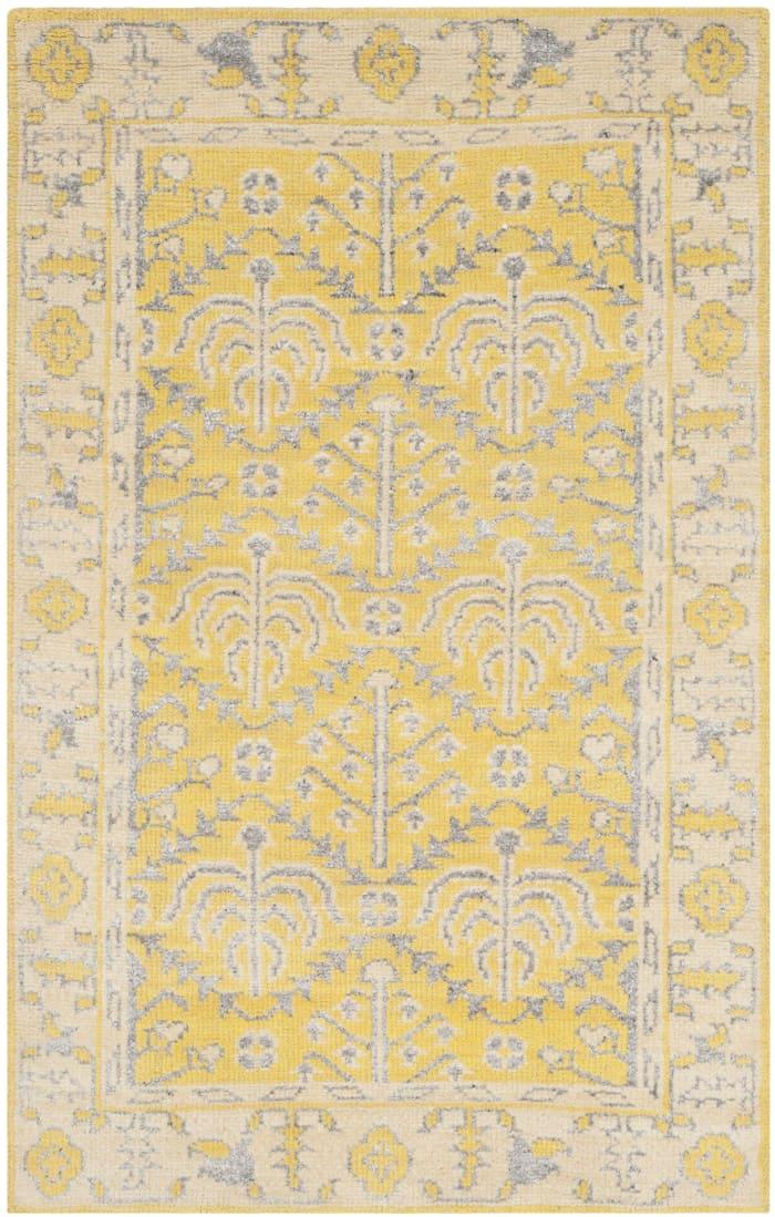 Yellow Wool Rug 6' x 9'