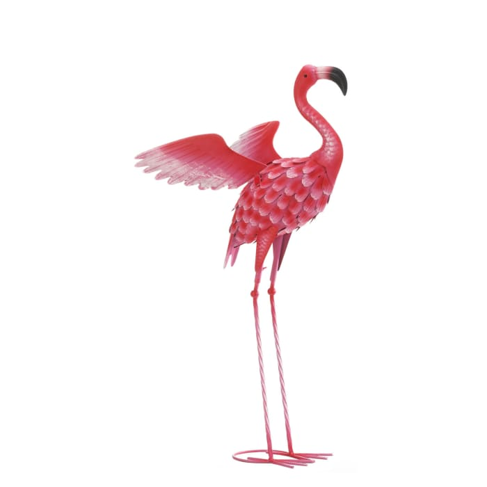 Large Flying Flamingo Garden Yard Decor