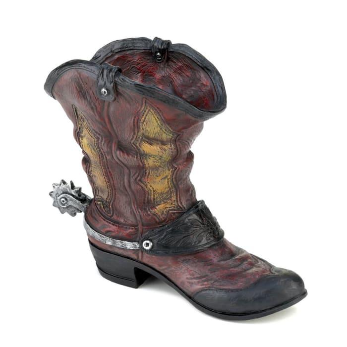 Spurred Cowboy Boot Planter
