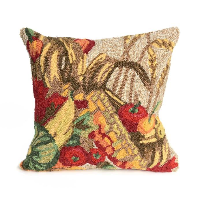 Basket Natural Outdoor Pillow