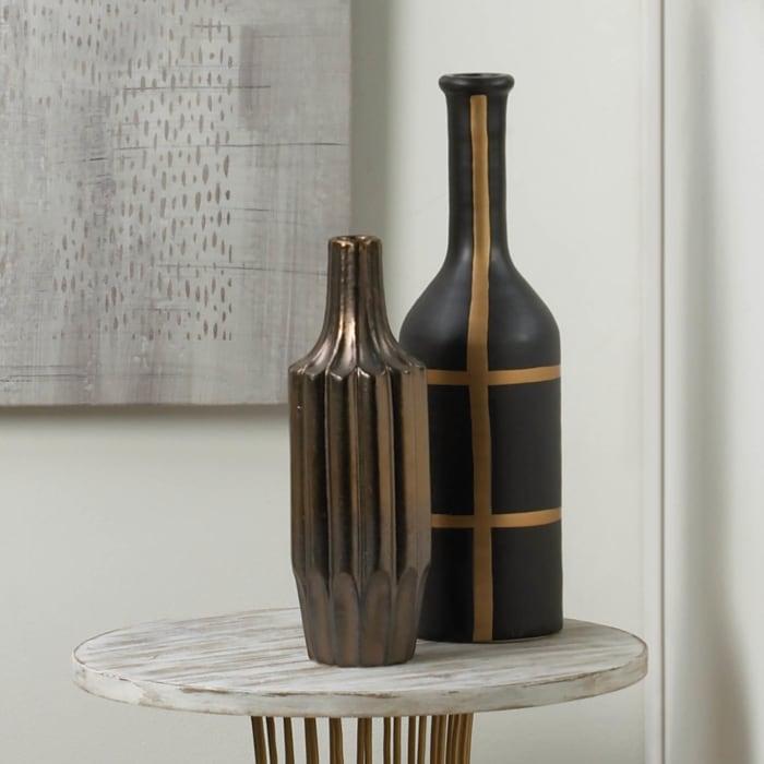 Iberia Black and Gold Vase