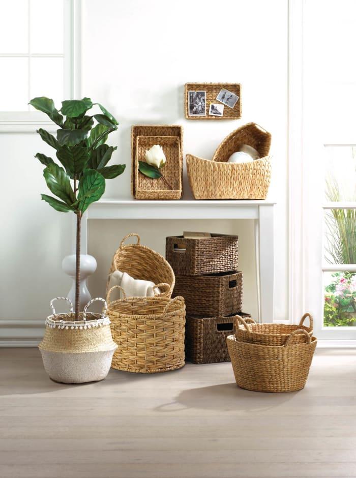 Round Wicker Basket (Set of 2)