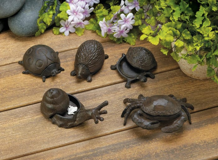 Secure Cast Iron Crab Secret Key Holder