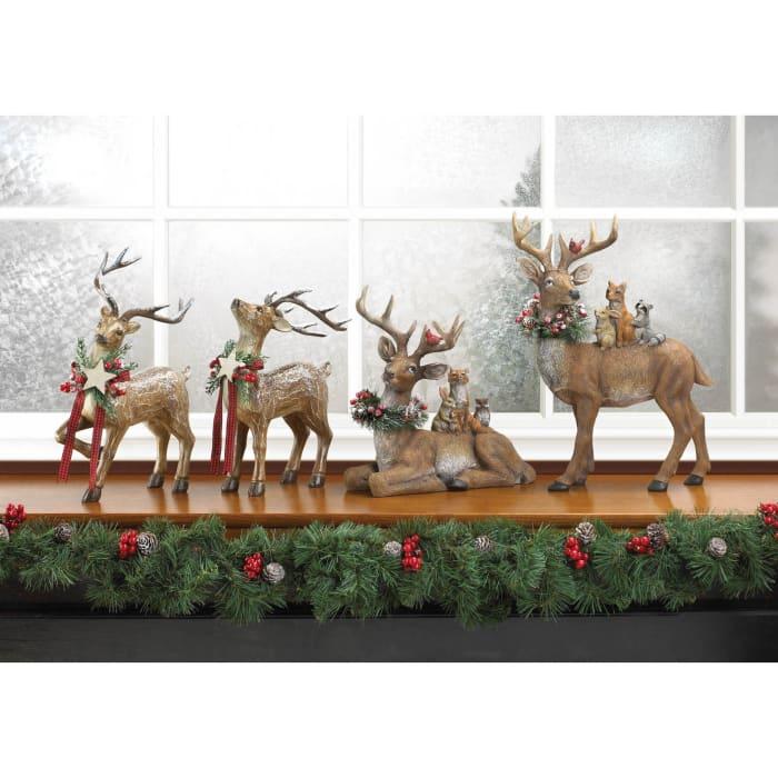 Sitting Woodland Reindeer Décor