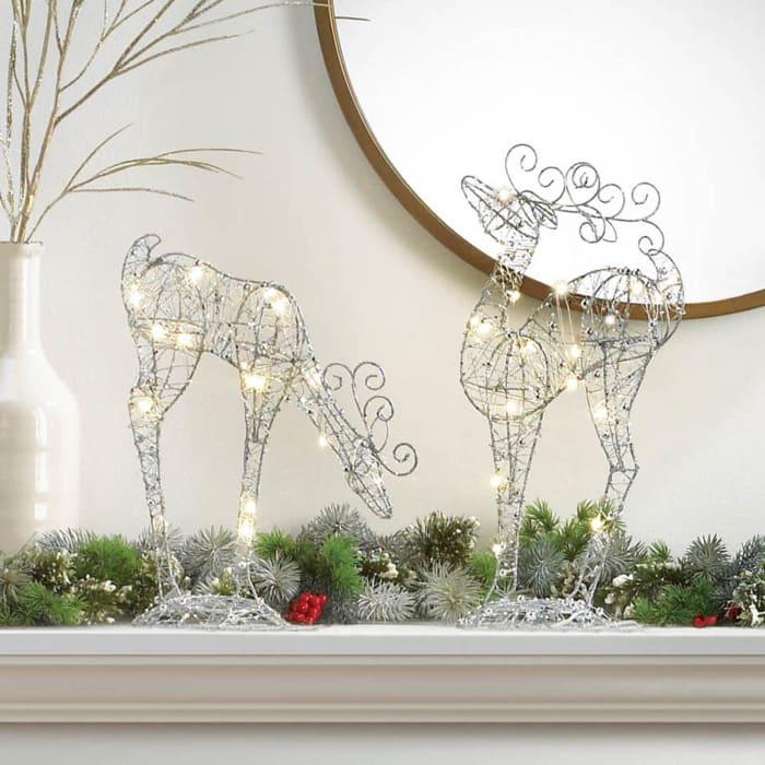 Standing Fairy Light Up Reindeer Décor