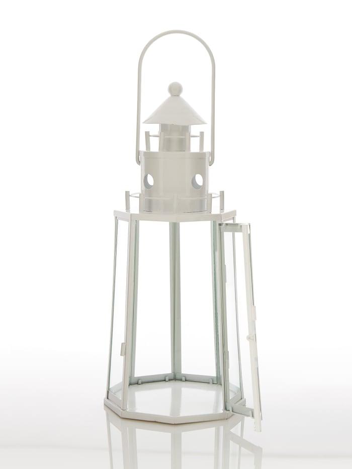 White Lighthouse Hanging Candle Lantern