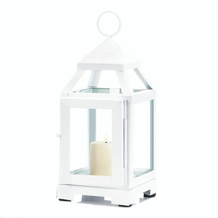 White Mini Contemporary Lantern