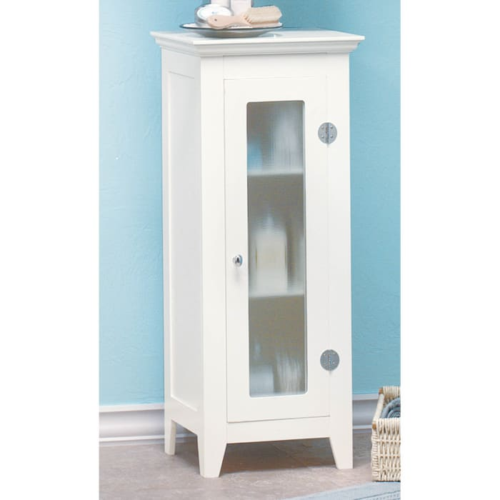 White Three Level Storage Cabinet