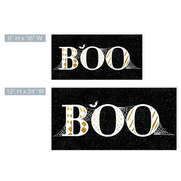 Boo Glam Black Halloween Canvas Wall Art