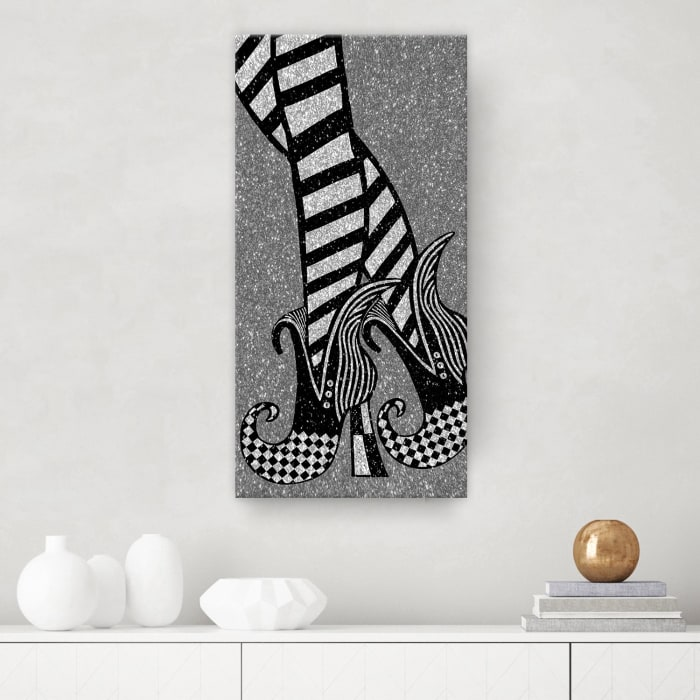 Chic & Bewitched IV Gray Halloween Canvas Wall Art