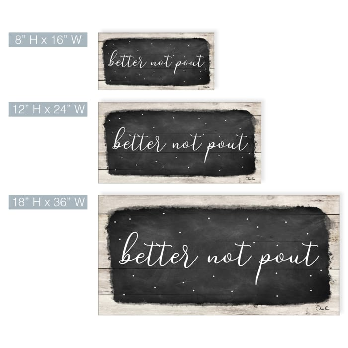 Better Not Pout Black Holiday Canvas Wall Art