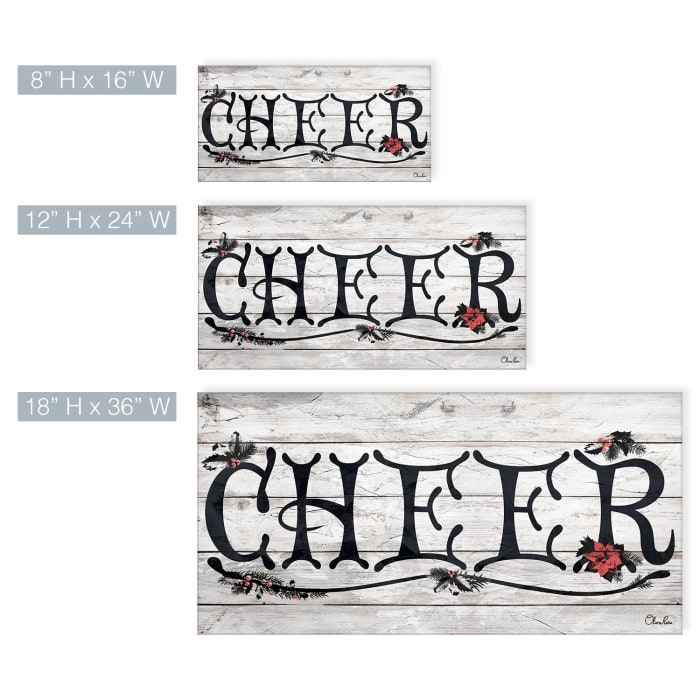 Cheer Beige Holiday Canvas Wall Art