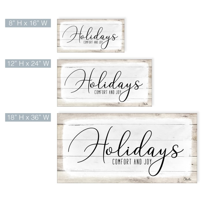 Holidays White Christmas Canvas Wall Art
