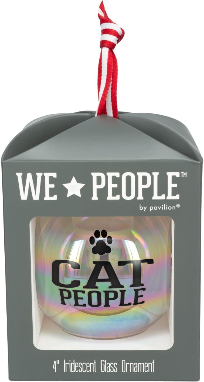 Cat People - Iridescent Glass Ornament
