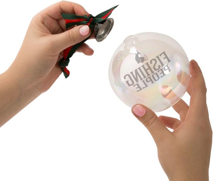 Fishing People - Iridescent Glass Ornament