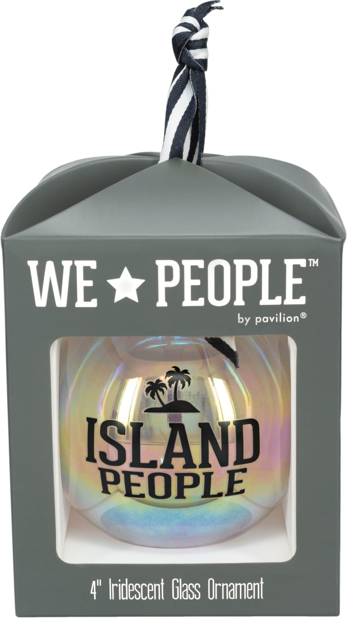 Island People - Iridescent Glass Ornament