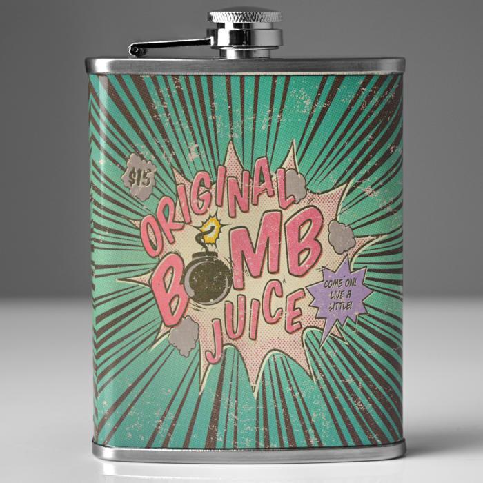 Original Bomb Juice Stainless Steel Liquor Flask Pier 1