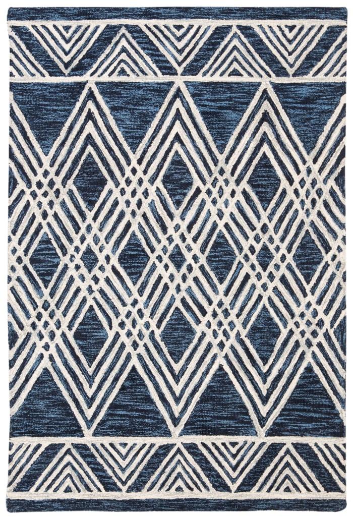 Essence Blue Wool Rug 4' x 6'