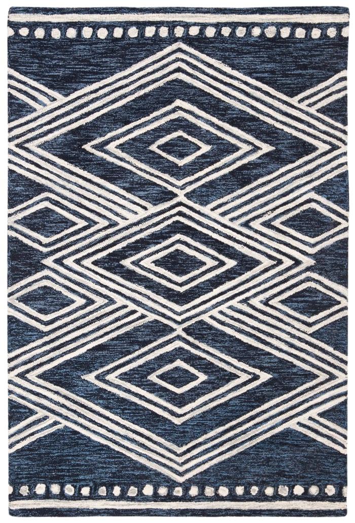 Essence Blue Wool Rug 2' x 3'