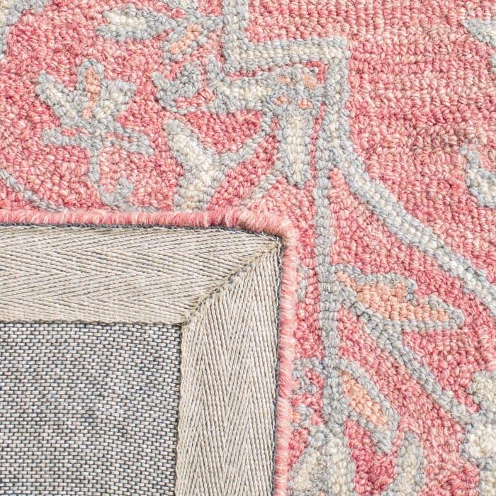Essence Pink Wool Rug 2'25
