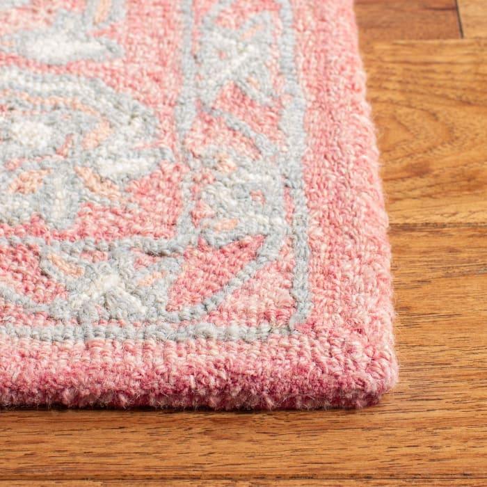 Essence Pink Wool Rug 5' Round