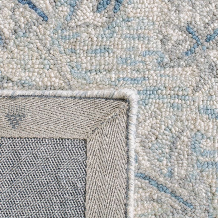 Essence Blue Wool Rug 5' Round