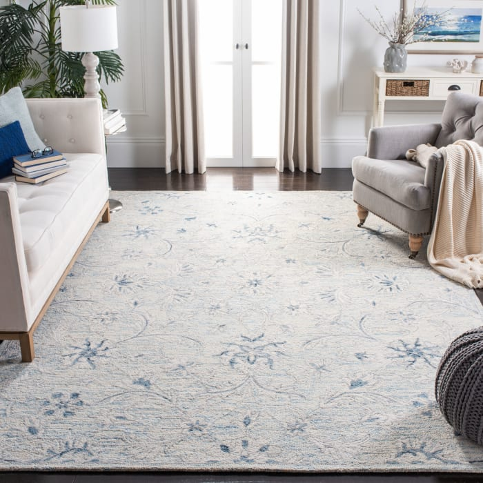 Essence Blue Wool Rug 9' x 12'