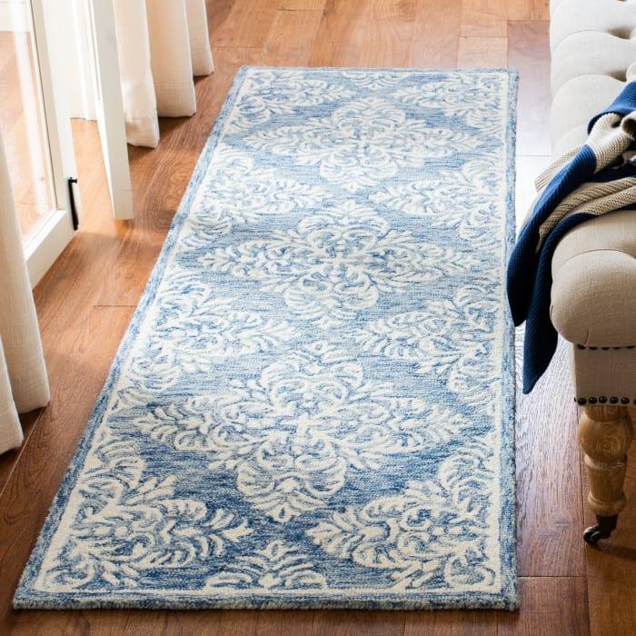 Blue Wool Rug 2'25