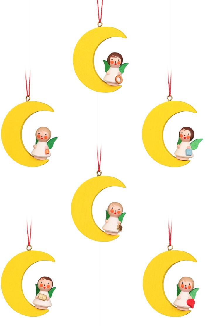 Christian Ulbricht Ornament - Angels on Moon set of 6
