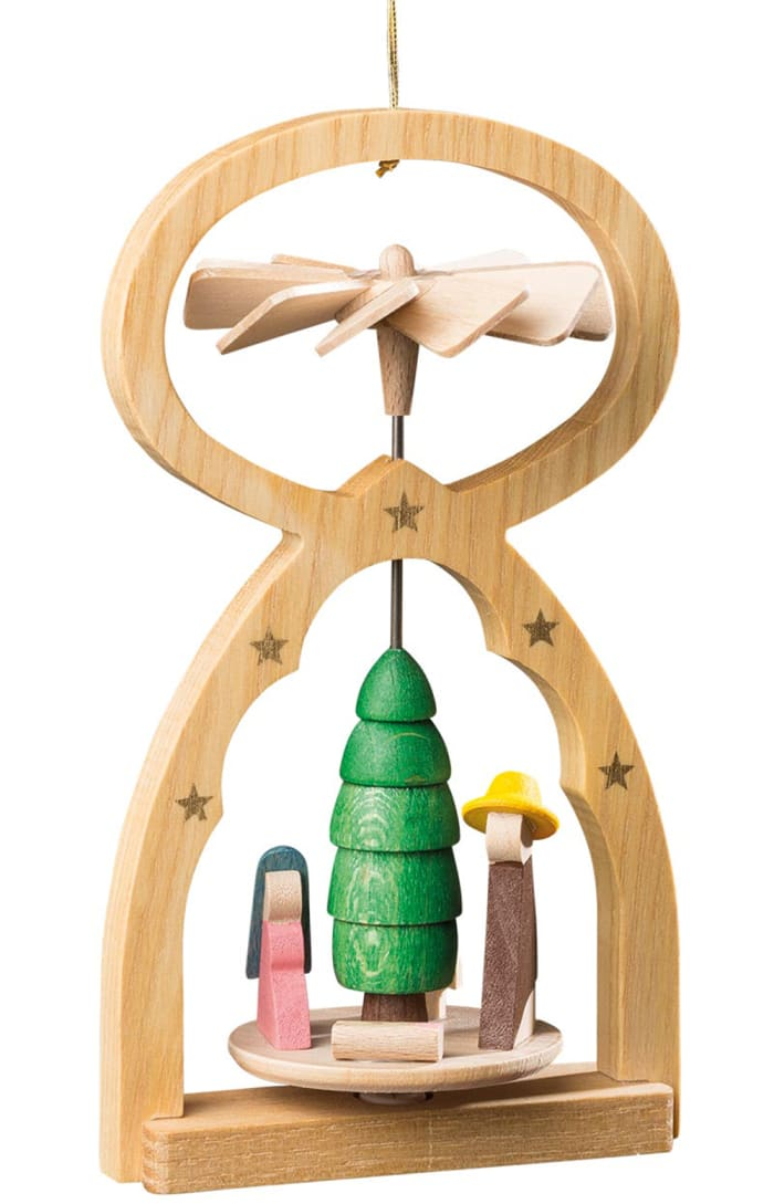 Richard Glaesser Mini Pyramid Hanging Ornament - Nativity