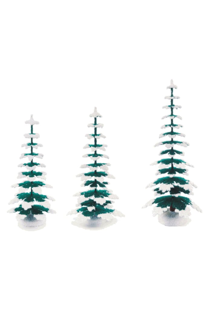 Winter Trees - Medium Assortment of 3 (13.5cm, 15cm and 20cm)