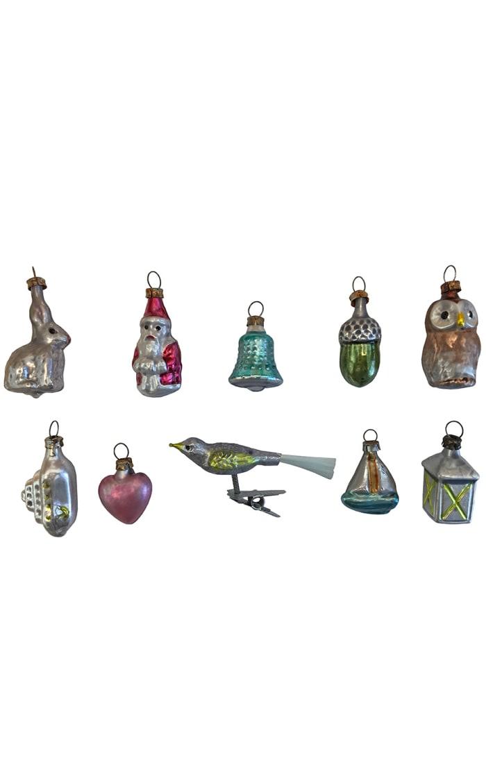 Nostalgie Ornament - Assorted Mini Glass - Box of 10