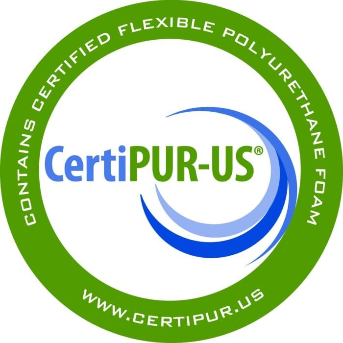 Double CertiPUR-US® Certified Foam Futon Twin 75 In. x 39 In. in Black Mattress