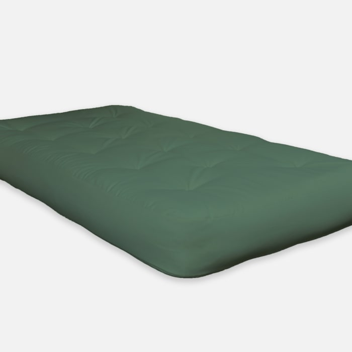 Single Foam Twin Futon 75 x 39 in Green Mattress