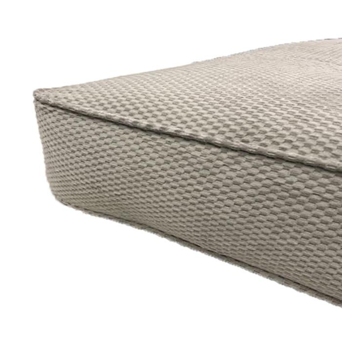 """8"""" Double Poly Single Foam Full Futon, 75 In. x 54 In. in Gray"""