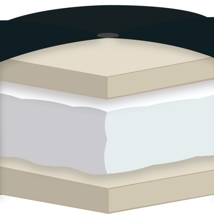 Khaki Certified Foam Futon Full Mattress