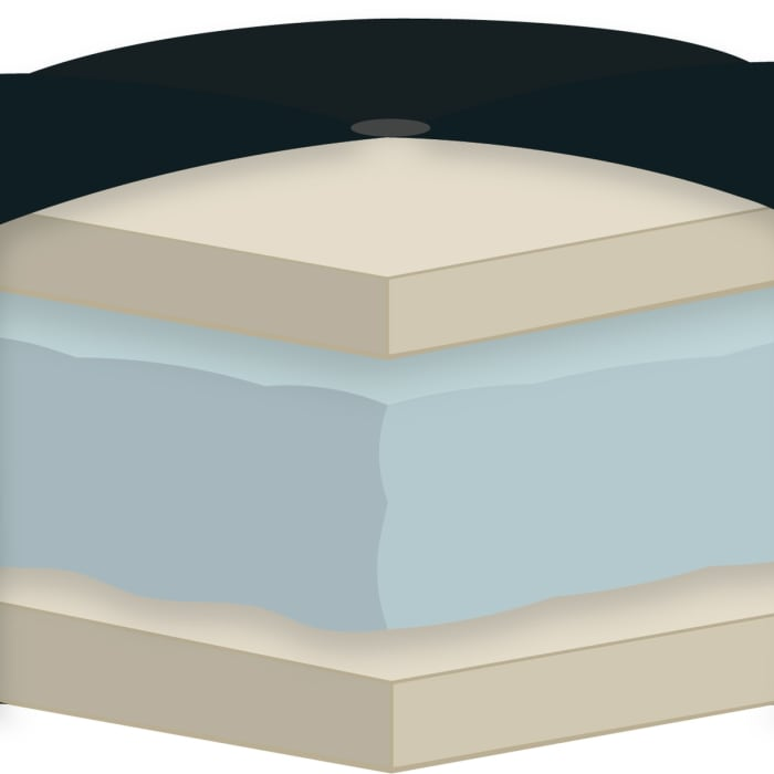 Navy Foam Full Futon Mattress